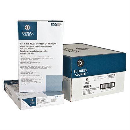 Papier photocopie BUSINESS SOURCE® Boîte de 5000 (10 paquets de 500) légal
