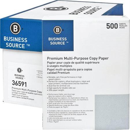 Papier photocopie BUSINESS SOURCE® Boîte de 5000 (10 paquets de 500) lettre