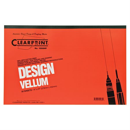 Bloc de papier vélin Clearprint 11 x 17 po