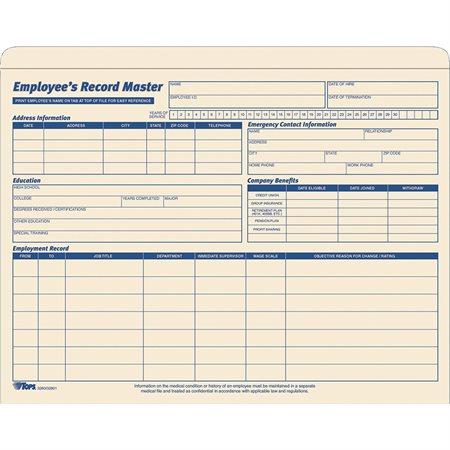 Employee Record Master File Jackets