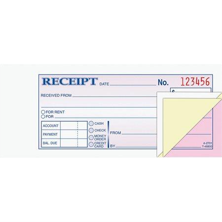 Carnet de reçu