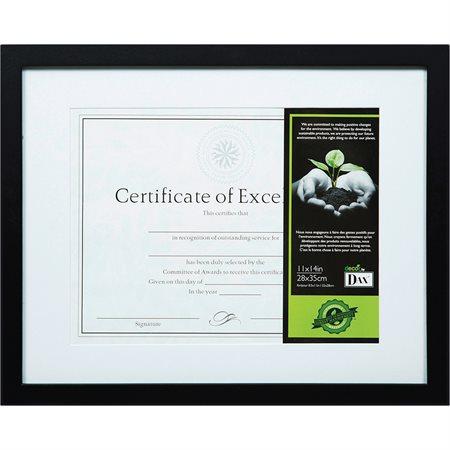 Cadre en bois noir certifié FSC