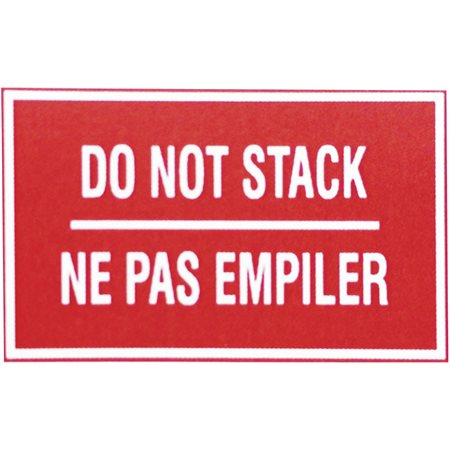 Do Not Stack - Shipping Labels