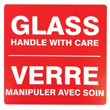 Glass Handle With Care - Shipping Labels