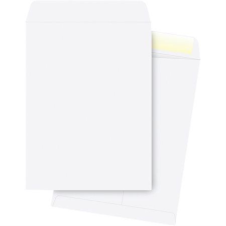 Enveloppe à catalogue Blanche. 28 lb. Boîte de 250. 10 x 13 po.