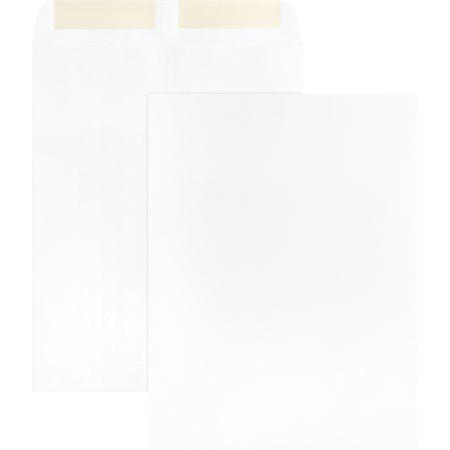 Enveloppe à catalogue Blanche. 28 lb. Boîte de 250. 9 x 12 po.