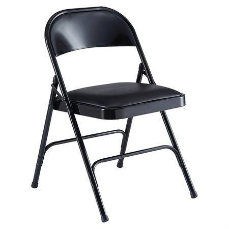 Chaise pliante en métal Tout métal noir (bte 4)