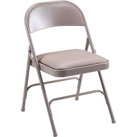Chaise pliante en métal Tout métal beige (bte 4)