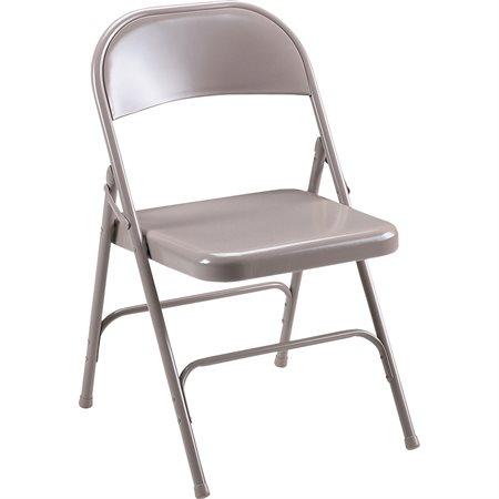 Chaise pliante en métal Tout métal beige (bte 2)
