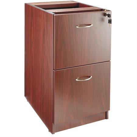 Caisson suspendu fixe à 2 tiroirs mahogany