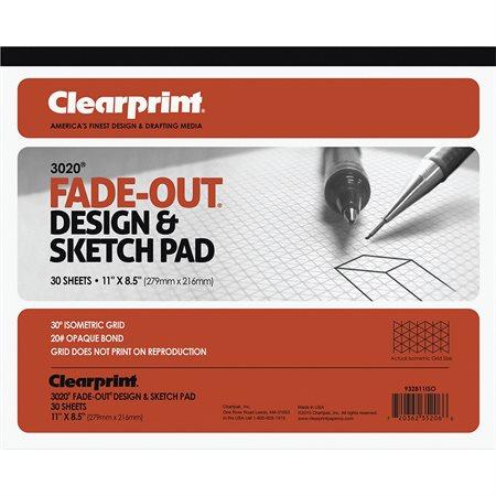 Bloc de papier Isométrique Clearprint