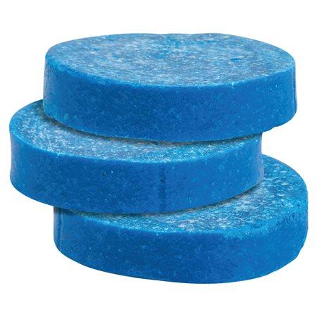 Pastille deodorante bleu pour cuvette