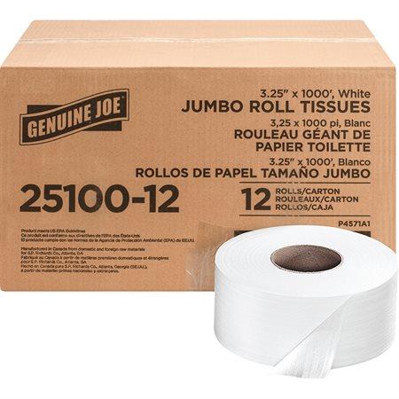 Rouleaux de papier hygiénique Jumbo 3 1 / 4 po x 1000 pi (pqt 12)
