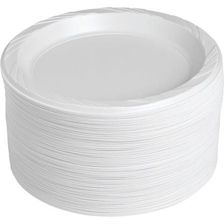 Round Plastic Plates White 9 in.