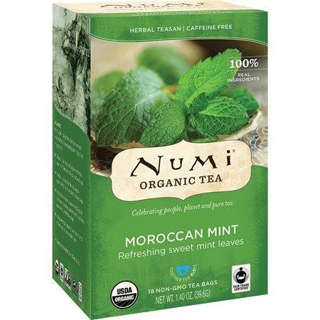 Thé biologique Numi Thé à base de plantes Menthe Marocaine