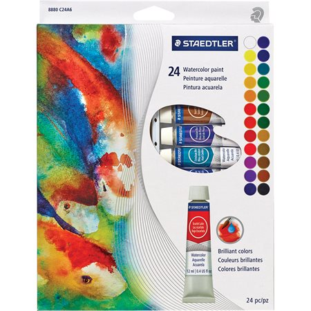 Watercolour paint tubes