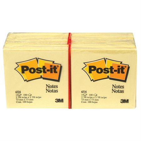 Feuillets autoadhésifs Post-it® Uni 3 x 3 po. (12)