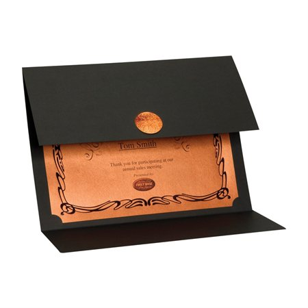 Porte-certificats St.James™ Elite Copper Médaillon cuivré noir