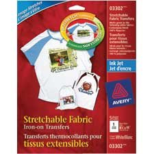 Stretchable fabric iron-on transfer