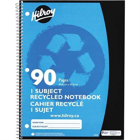Cahier de notes recyclé 10-1 / 2 x 8 po 90 pages (45 feuilles)