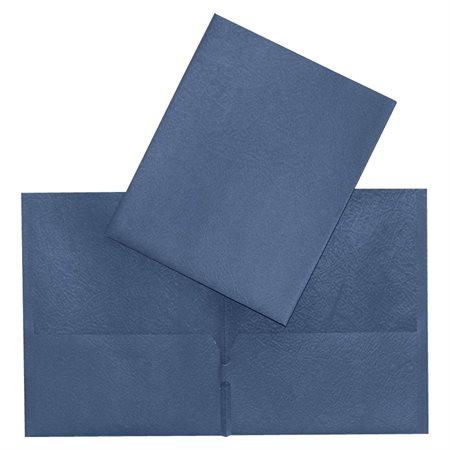 Couverture de présentation à pochettes bleu foncé
