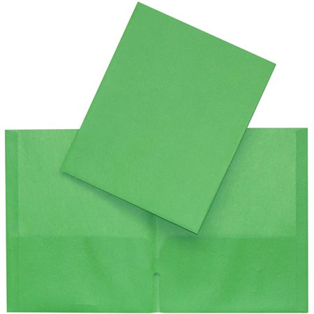 Couverture de présentation à pochettes vert