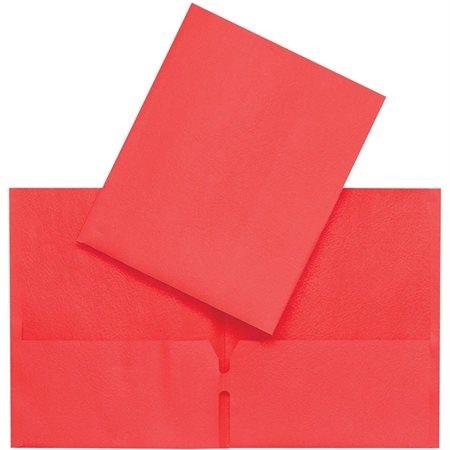 Couverture de présentation à pochettes rouge