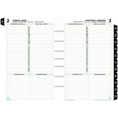 Recharges et accessoires format bureau (2020) Recharges datées. Bilingue. 1 jour / page