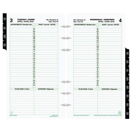 Recharges format portatif (2020) 1 jour / page