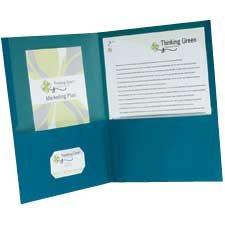 Couverture de présentation recyclée 100 % Earthwise™ Paquet de 10 bleu
