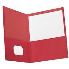 Couverture de présentation recyclée 100 % Earthwise™ Paquet de 10 rouge