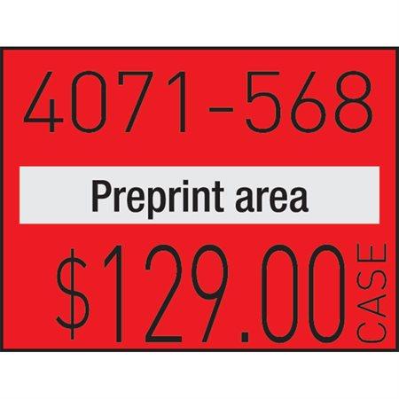 Étiquettes pour pistolet à étiqueter 1136 Permanent rouge fluo