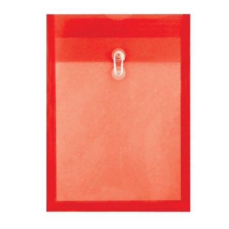 Enveloppe transparente expansible rouge