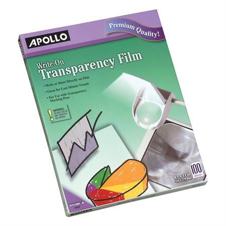 Write-On Transparency Film