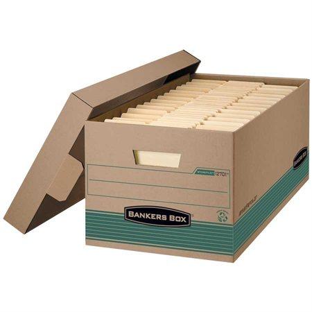 """Boîte d'entreposage Stor / File™ Earth Series Légal. 15 x 24 x 10""""H. Empilable jusqu'à 700 lb."""