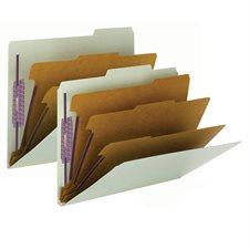 Chemise de classement en carton pressé 3 diviseurs lettre