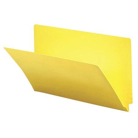 Chemise à dossier à onglet latéral Format légal jaune