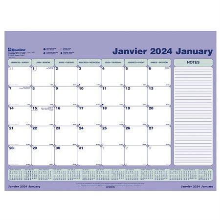 Calendrier sous-main mensuel (2021) Recharge 23-1 / 2 x 18-3 / 8 po.