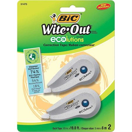 Ruban correcteur mini Wite-out® ecolutions™ Paquet de 2