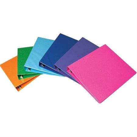 Reliure à anneaux 1 po. couleurs variées