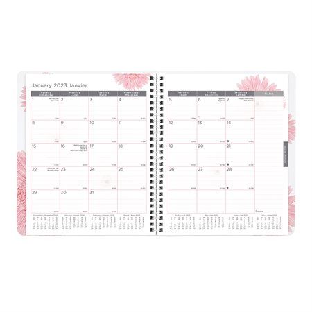Agenda mensuel Ruban rose (2021)