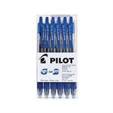 Stylos à bille roulante rétractable G2 0,7 mm. Boîte de 6 bleu