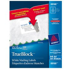 TrueBlock™ White Mailing Labels