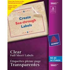 Easy Peel clear mailing labels