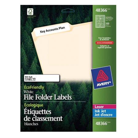 EcoFriendly File Folder Labels