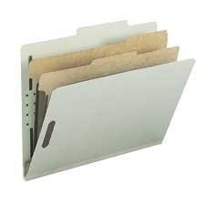 Chemise de classement recyclée lettre Format lettre gris / vert