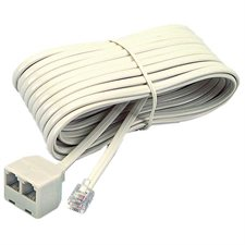 Phone extension cord Male - duplex jack 25'