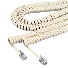 Coil cord 12' ivory