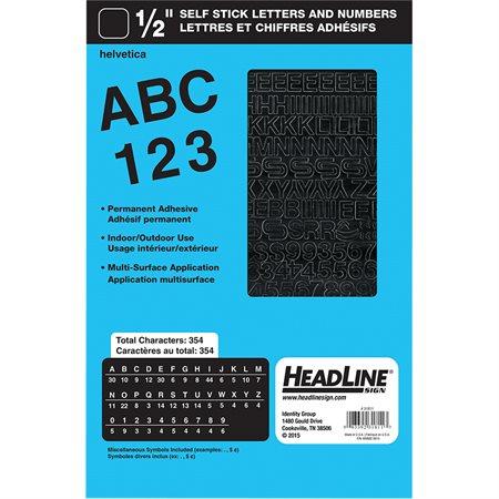 """Lettres et chiffres en vinyle Geosign Chiffres noirs 12 mm (1 / 2"""")"""