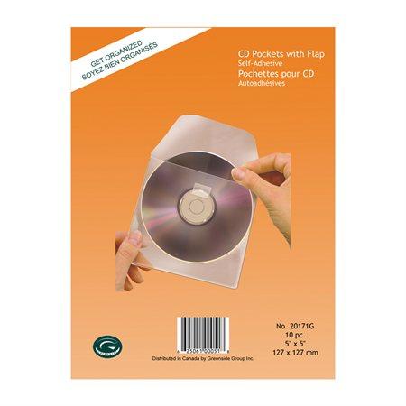 Pochette média autoadhesive Pour CD / DVD